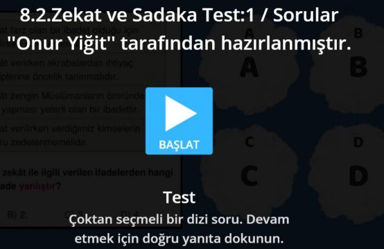 8.2.Zekat ve Sadaka Test:1